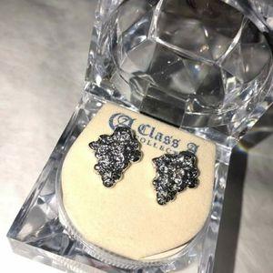 Nugget earrings silver stainless steel